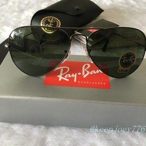 Ray Ban RB3025 Metal Aviator Sunglasses